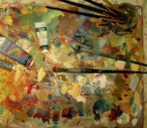 paints and pallette small